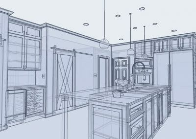 Adding dimension to the 3D rendering in East Cobb kitchen renovating