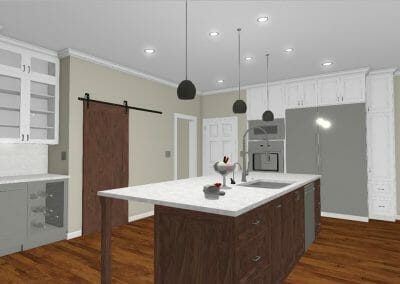 Another 3D model of the kitchen remodel in East Cobb