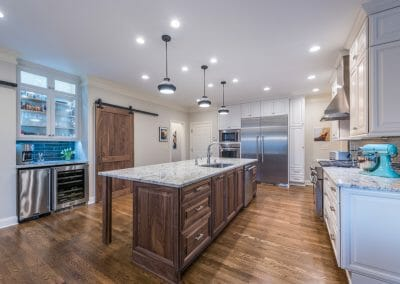 A view of the open kitchen in East Cobb remodel