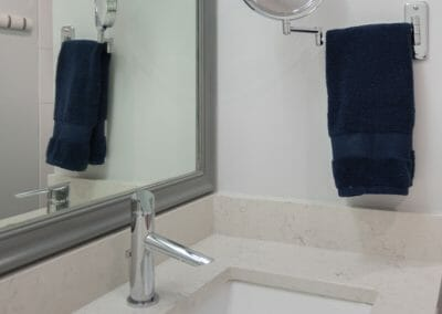 Make-up mirror and sink in Roswell master bath remodeling project