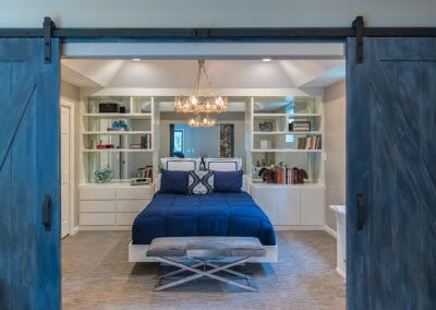The barn doors to the master suite retreat remodel in Roswell