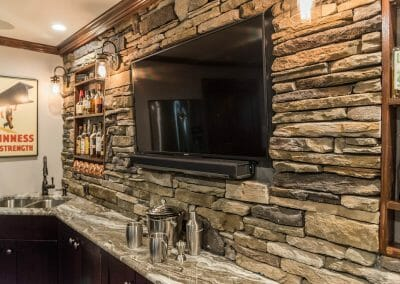Watch every game on the TV installed in the bar in the remodel in East Cobb