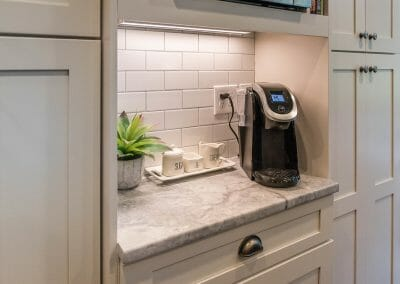 Coffee station in East Cobb kitchen remodeling project