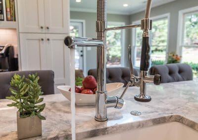 Faucet with spray in East Cobb kitchen remodel