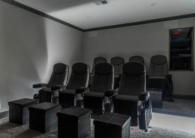 Comfortable seating in home theater in East Cobb
