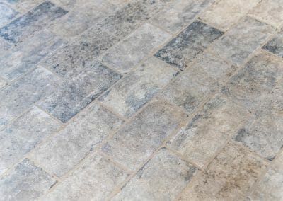 Detail of the tile floor in the new laundry room in East Cobb