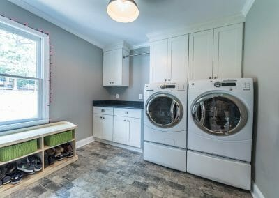 The new laundry room in the East Cobb kitchen remodel