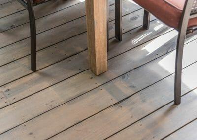 Flooring detail in screened porch remodel in East Cobb