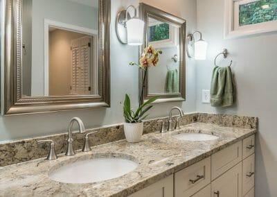 Double sink vanity in Roswell bathroom remodeling