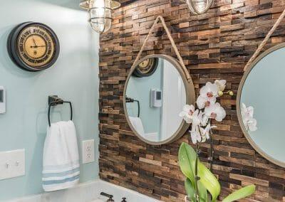 Nautical style bathroom remodel in East Cobb