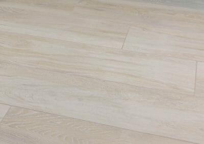 Wood-look tile floor in Roswell open concept remodel