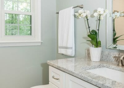 The remodeled bathroom in Roswell