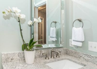 New vanity in Roswell bathroom remodeling project