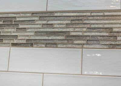 Tile detail in Roswell bathroom remodeling project