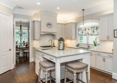 View of the kitchen remodeling project in East Cobb