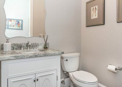 Single vanity in the East Cobb first-floor remodel