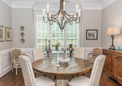Dining area in the first-floor remodel in East Cobb