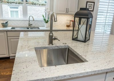 Island sink in East Cobb kitchen first floor remodeling project