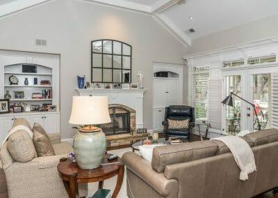 Living room in East Cobb first floor remodel
