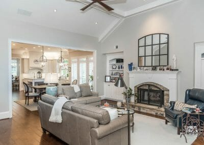 We remodeled the entire first floor in East Cobb to reflect the homeowner's taste
