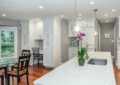 Island and eat-in kitchen remodel in Sandy Springs