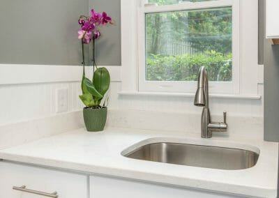 Sink in the new laundry room as part of the kitchen remodeling in Sandy Springs
