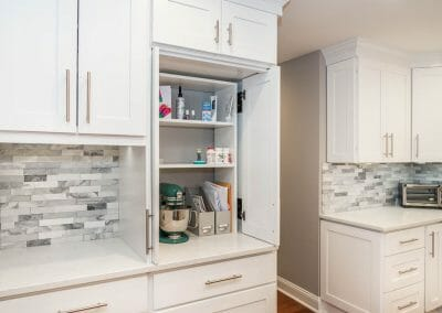 Appliance garage and storage in Sandy Springs kitchen remodeling