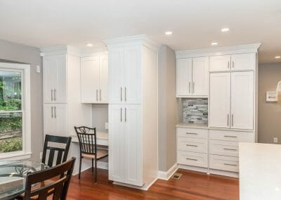 Expanded storage and work areas in Sandy Springs kitchen remodeling