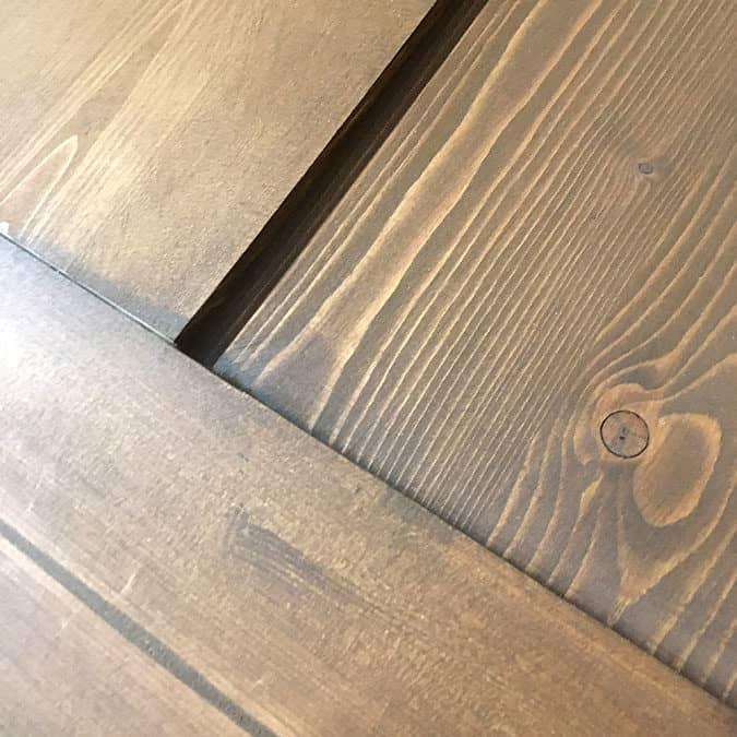 barndoor, custom carpentry, stain finish, joinery