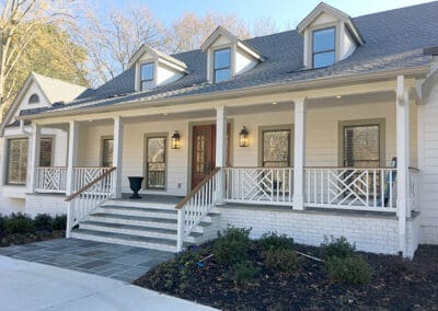 Front facade and porch