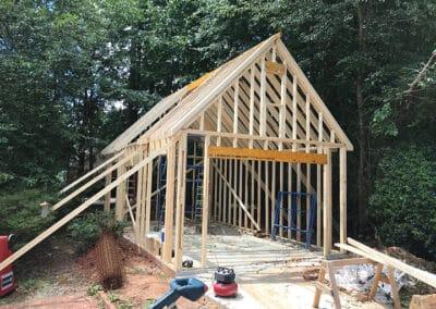 Detached garage build