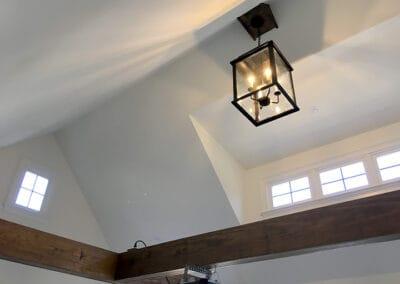 Detached garage interior and clerestory